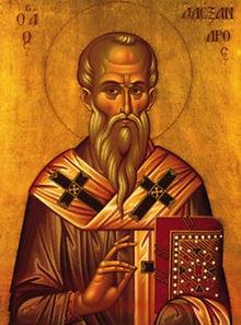 Saints Alexandros Patriarch of Constanti