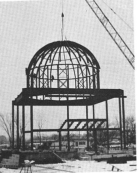 Placing the Dome on the Main Church