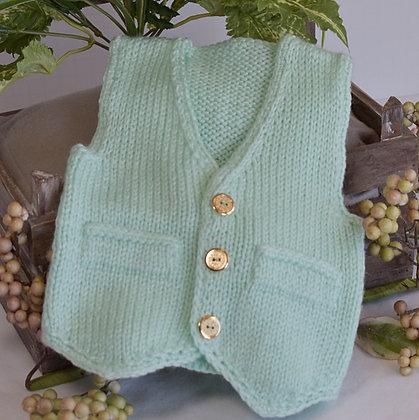 Baby's V-Neck Pointed Vest
