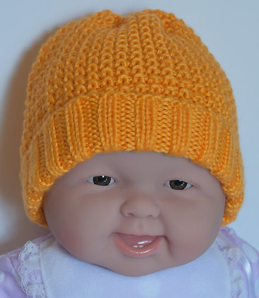 Knit-Purl Textured Baby Hat
