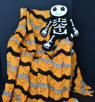 Halloween Blanket - Orange & Black
