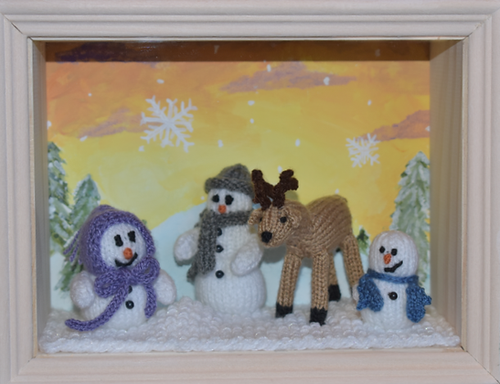 "Christmas/Winter Shadowbox - ""Winter is Here!"""