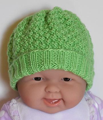 Moss Stitch Baby Hat
