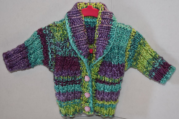 Shawl Collar Baby Cardigan