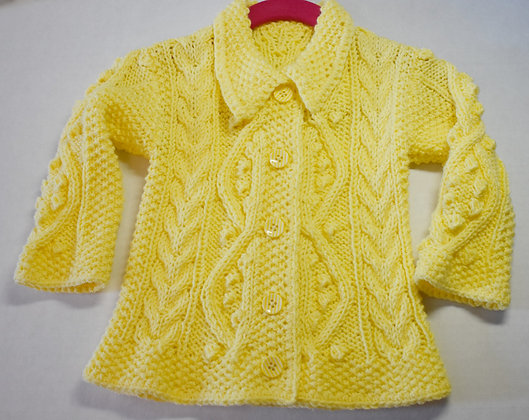 Popcorn and Cables Baby Cardigan