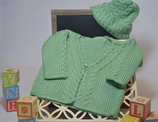 Baby Cables Sweater and Hat