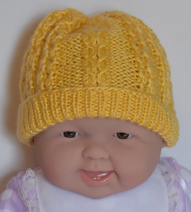 Crossover Cable Baby Hat