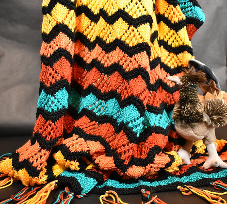 Southwest Lacy Triangle Waves Blanket