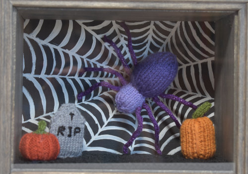 "Halloween Shadowbox - ""Spider Awaits"""