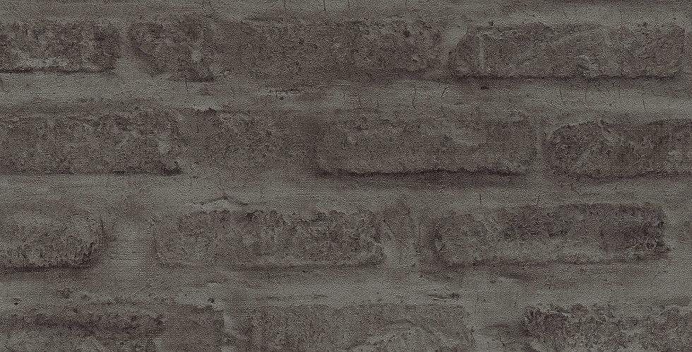 Tapet care imita zidaria de caramida in nuante de maro inchis