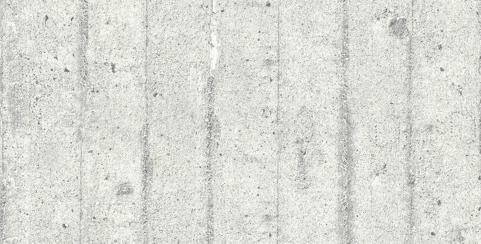 Tapet care imita zidaria zidaria din beton, in nuante de gri deschis