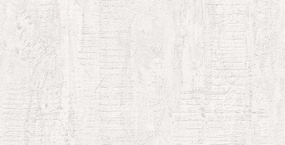 Tapet care imita zidul de beton nefinisat in nuante de alb si murdar