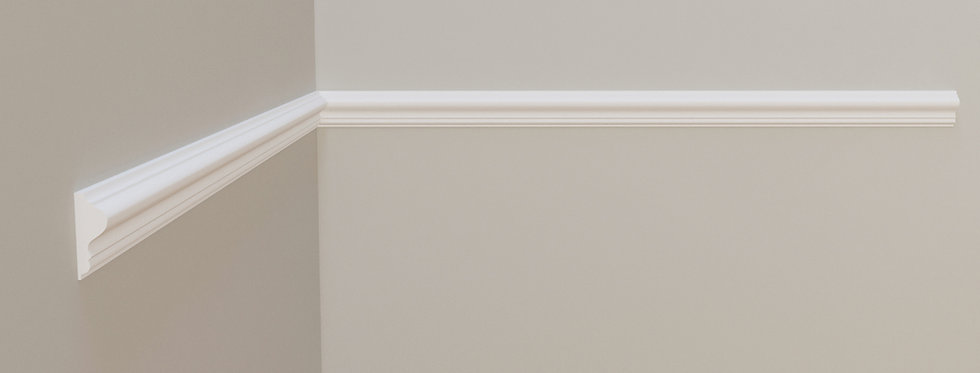Brau decorativ alb din DUROTEC 90