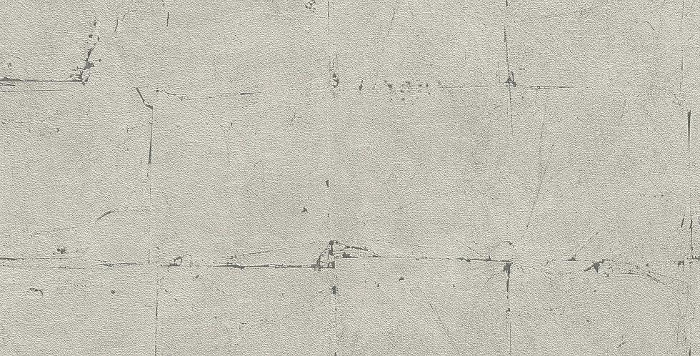 Tapet in stil modern, imita placi de beton de culoare gri cu tenta bej