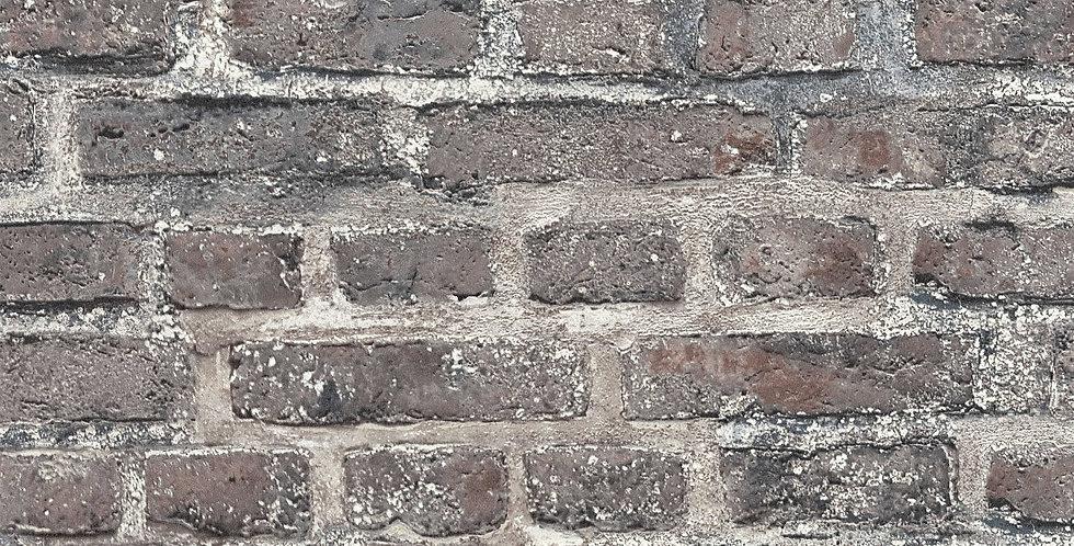 Tapet imitatie zidarie din caramida in nuante de gri si bej
