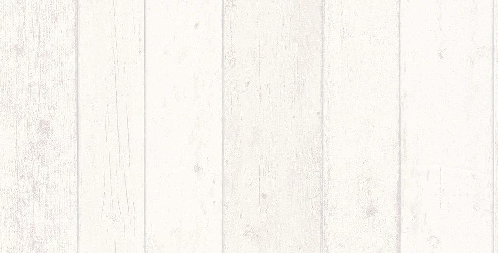 Tapet care imita bucati de lemn vechi in nuante de crem si gri