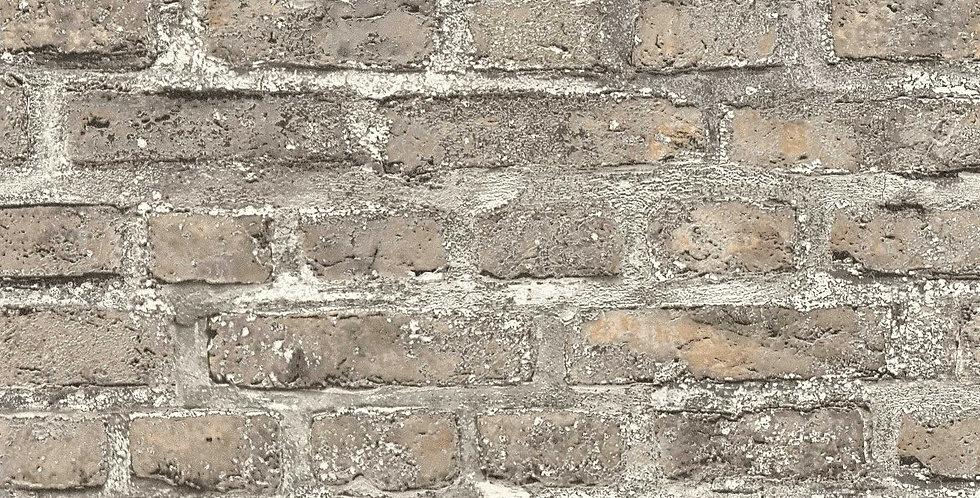 Tapet imitatie zidarie din caramida in nuante de bej