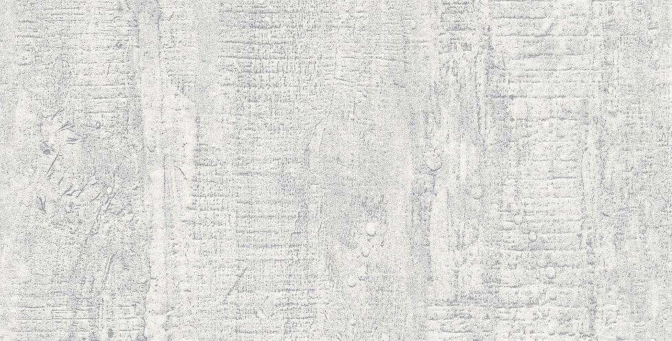 Tapet care imita zidul de beton nefinisat in nuante de alb si gri