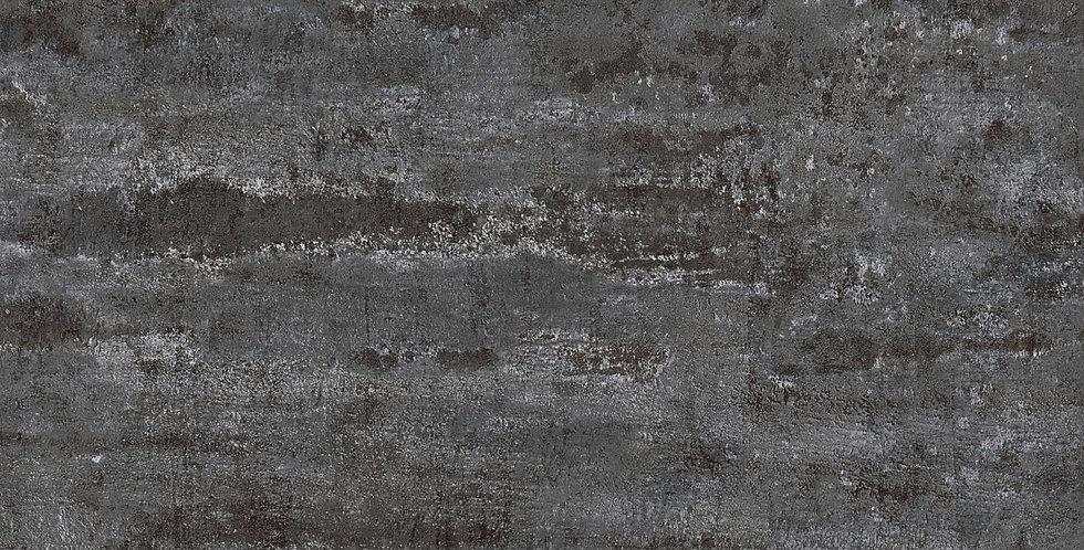 Tapet care imita vopsea decorativa in nuante de negru si insertii de alb