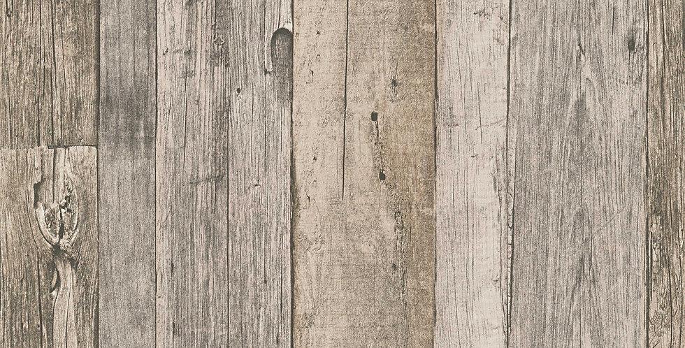 Tapet care imita lemnul vechi intr-un mod natural, in nuante de bej si gri