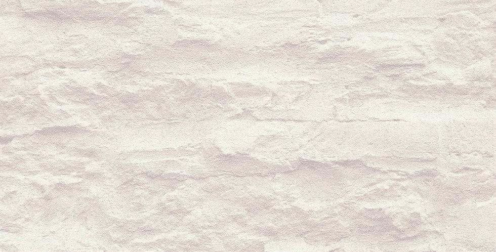 Tapet cu aspect de pietre nefinisate vopsite in nuante de alb