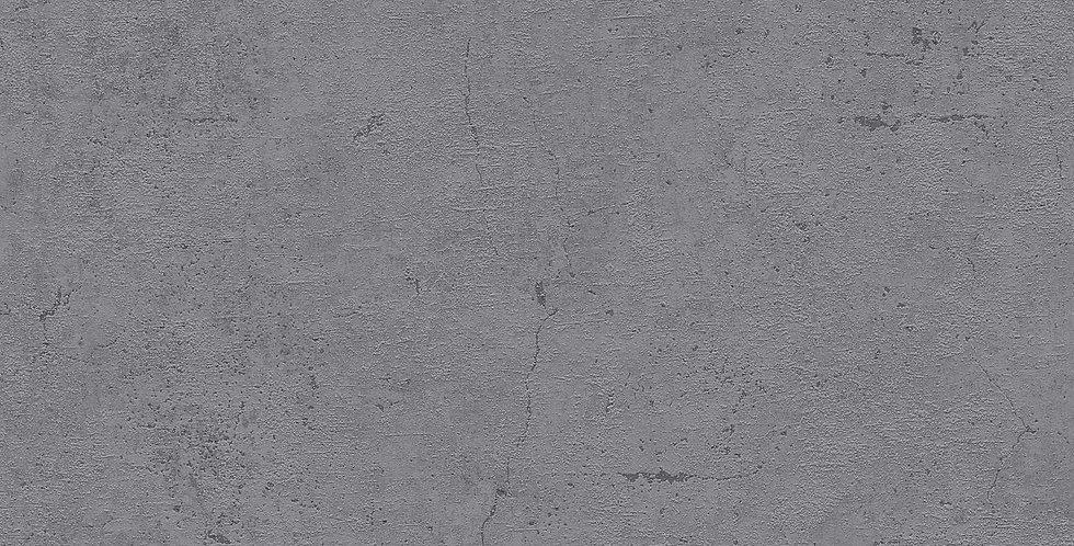 Tapet care imita betonul in nuante de gri inchis si negru