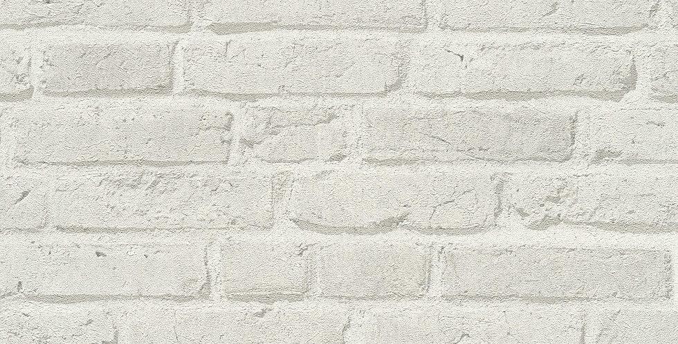 Tapet imitatie zidarie din caramida cu efect 3D in nuante de gri