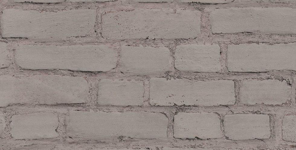 Tapet care imita zidaria din caramida vopsita gri