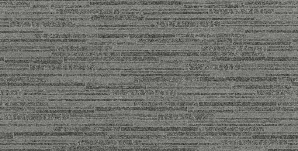 Tapet care imita zidaria din bucati mici de piatra decorativa, in nuante de gri