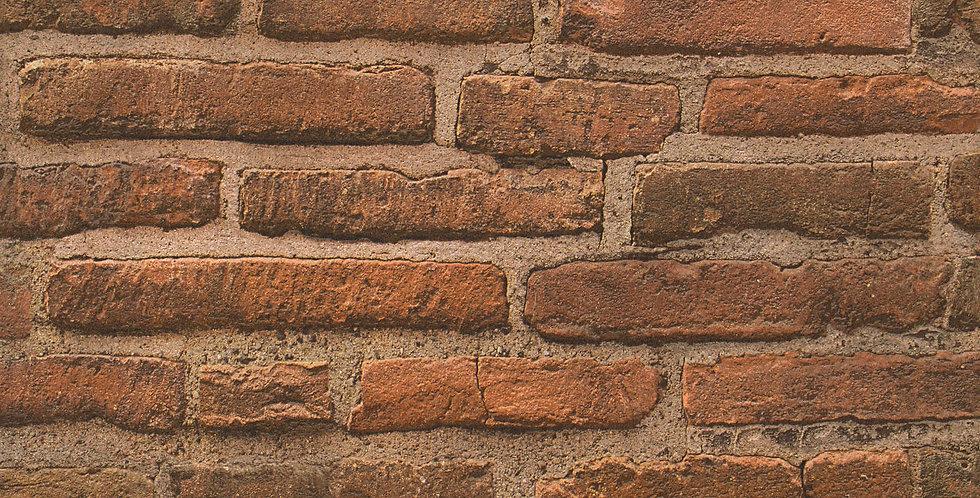 Tapet imitatie zidarie  caramida rosie