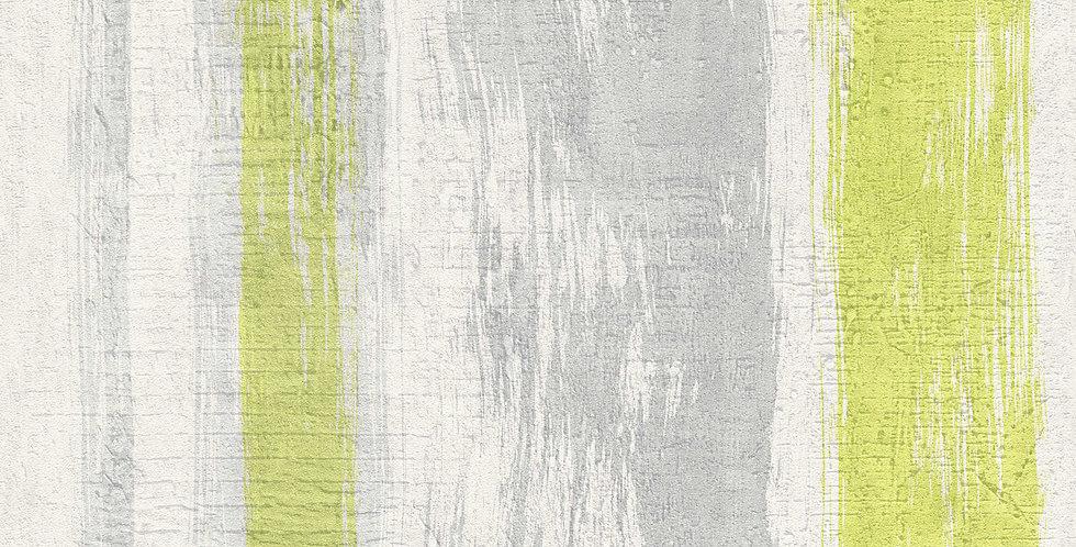 Tapet care imita betonul gri deschis, vopsit in nuante de gri si verde