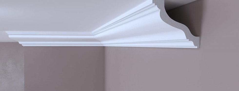 Cornisa decorativa alba din DUROTEC 57