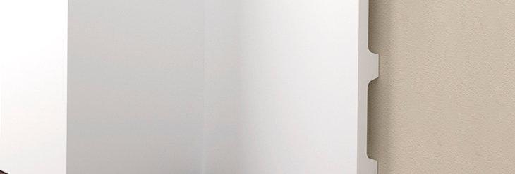 Plinta decorativa alba din DUROTEC 39