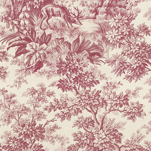 Stag Toile - Burgundy Mostra