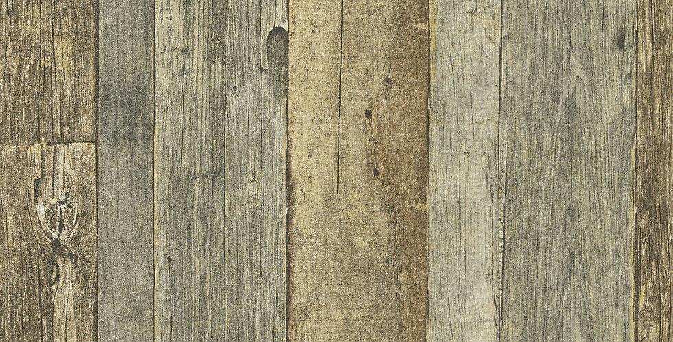 Tapet care imita lemnul vechi intr-un mod natural, in nuante de maro