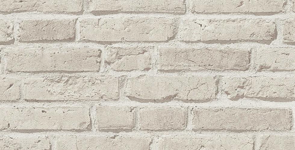 Tapet imitatie zidarie din caramida cu efect 3D in nuante de bej