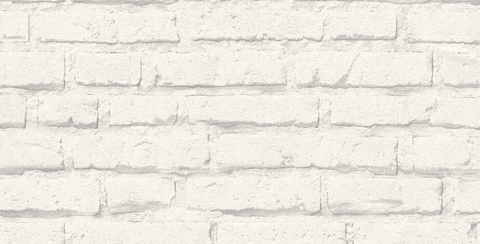 Tapet imitatie zidarie caramida vopsita in nuante alb si gri