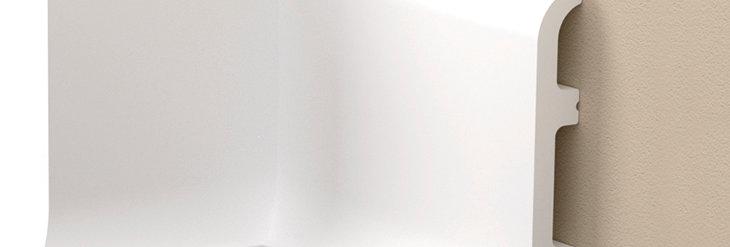 Plinta decorativa alba din DUROTEC 40