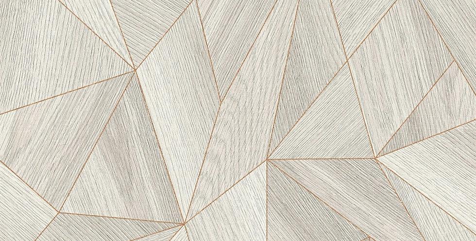 Tapet forme  geometrice din linii caramizii, colorate in nuante de gri si alb