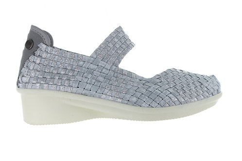 chaussure charm yael cristal shimmer silver bernie mev