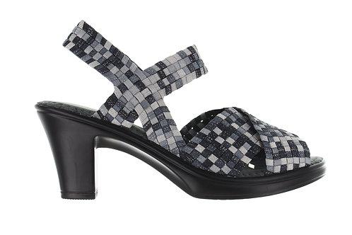 chaussure à talon delia grey mixed shimmer bernie mev