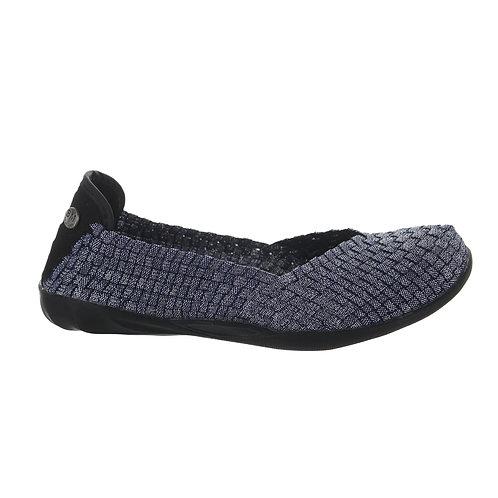 chaussure ballerine catwalk navy shimmer bernie mev