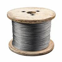 Трос нержавеющий с плетением 1х19 жёсткий
