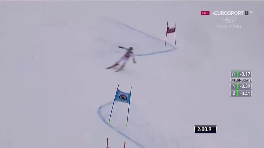 Marcel Hirscher - 1st and 2nd run - wins the giant slalom - Alta Badia, Italy - 12.17.2017-0.02.50.07