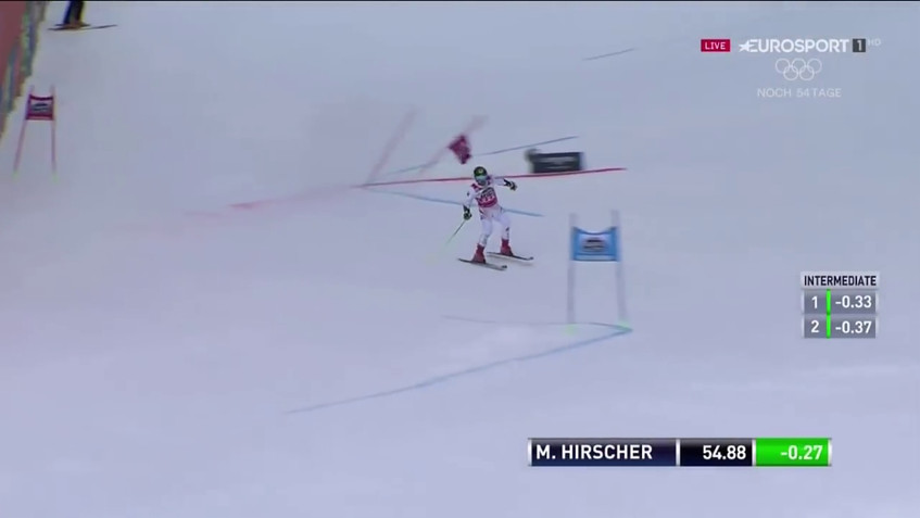 Marcel Hirscher - 1st and 2nd run - wins the giant slalom - Alta Badia, Italy - 12.17.2017-0.01.13.87