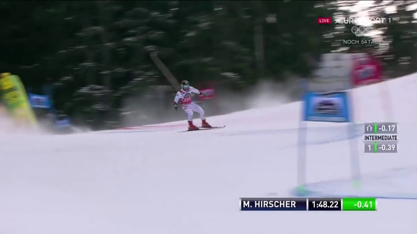 Marcel Hirscher - 1st and 2nd run - wins the giant slalom - Alta Badia, Italy - 12.17.2017-0.02.37.80