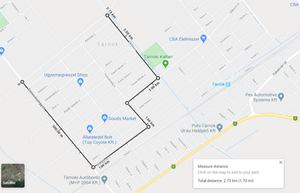 Google Maps - távolságmérés gyaloglóedzéshez