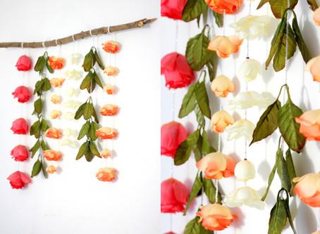 מתלה פרחים לקיר בסוכה או בבית