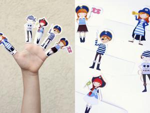 בובות אצבע פיראטיות