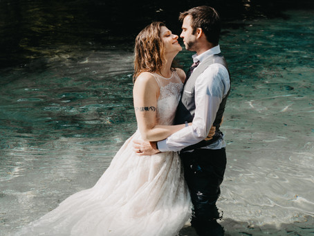 Jump in and trash the dress in the Florida Springs!